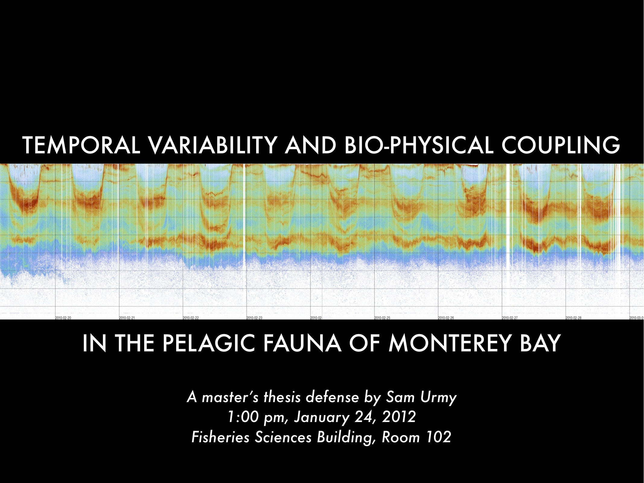 Temporal variability and bio-physical coupling in the pelagic fauna of Monterey Bay